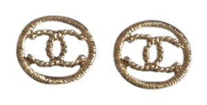 Chanel NEW! Classic CC Gold Earrings