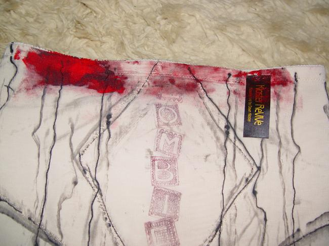 Other Zombie Hot Pant Goth Madonna Goth Lady Gaga Stage Halloween Costume Dance Stage Wear Burlesque Vampire Walking Dead Dead Mini/Short Shorts Beige with Faux Blood Red & Black
