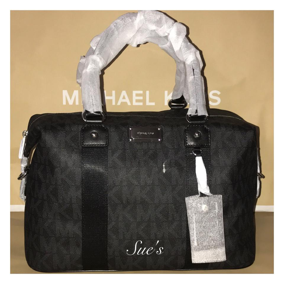 Michael Kors Nwt Mk Large Travel Weekender Black Travel Bag on ...