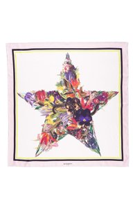 Givenchy Givenchy Floral Star Print Silk Scarf