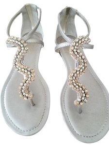 Fergie Studded Silver Gold Gold/Silver Sandals
