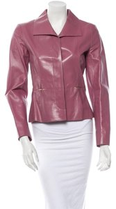 Chanel Lambskin Blazer Mauve Leather Jacket