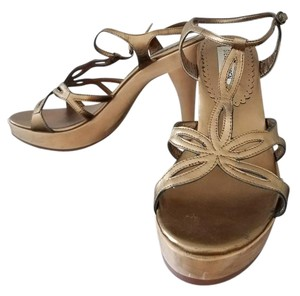 Steve Madden Heel Gold Sandals