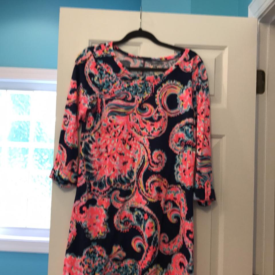 a1ea3b265a1d73 Lilly Pulitzer short dress navy (for the halibut) on Tradesy Image 0 ...