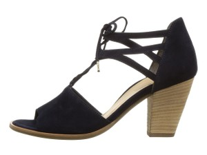 Paul Green Tie Closure Black Sandals