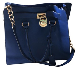 Michael Kors Limited Edition Purses Leather Tote in blue