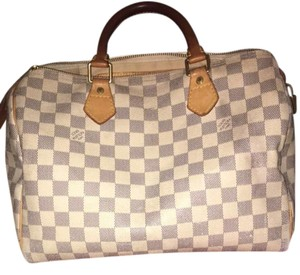 Louis Vuitton Satchel in White and blue