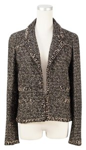 Chanel CHANEL Authentic Tweed Jacket Dark Brown FR36