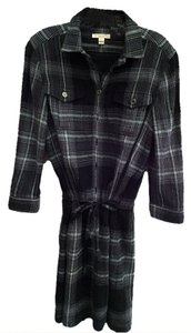 Burberry short dress Black & Grey plaid Tunic on Tradesy
