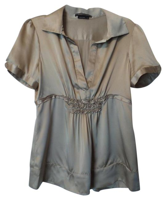 Item - Golden Beige Bcbg Max Azria Silk Ruched Oversized Blouse Tunic Size 10 (M)