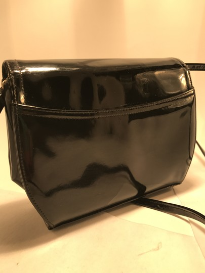 Frenchy of California Patent Patent Leather Vintage Clutch Cross Body Bag