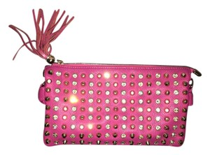 Other Crystals Party Flashy Fun Hot Pink Clutch