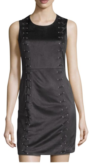 Preload https://img-static.tradesy.com/item/21337997/design-history-black-sleeveless-faux-suede-lace-up-mini-short-cocktail-dress-size-6-s-0-1-650-650.jpg