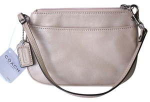 Coach Leather Shell Wristlet in SV/Shell