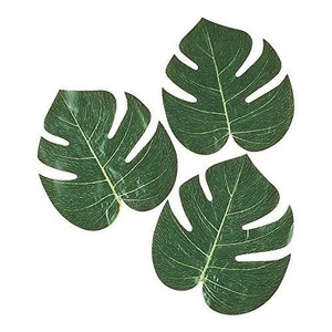 Party City Green Tropical Decorative Palm Leaves 10pk