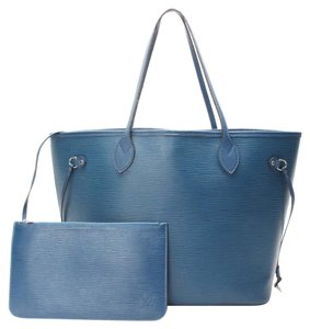 Louis Vuitton Neverfull Epi Mm Tote in Blue