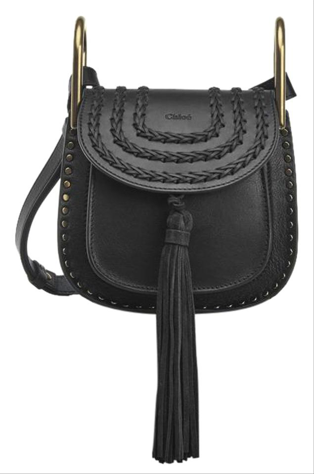 dbe0845860 Chloé Hudson Mini Black Calfskin Leather Cross Body Bag