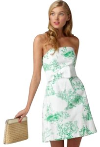 Lilly Pulitzer short dress White with a green garden toile print on Tradesy