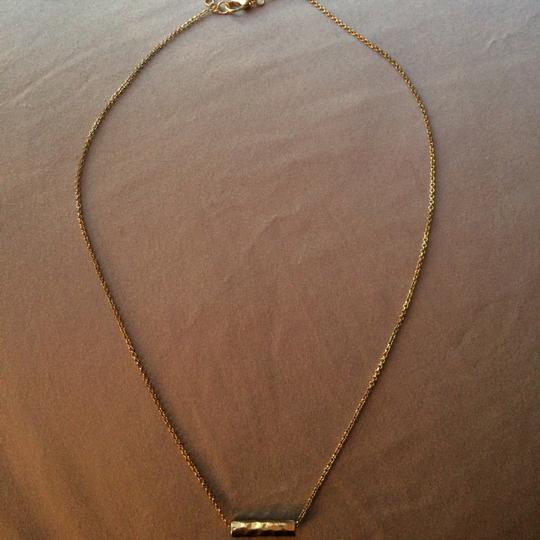 Other Gold plated brass hammered necklace