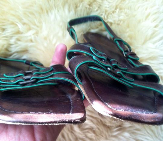 Sigerson Morrison Brown and Green Sandals