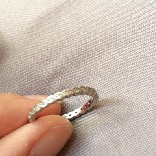 Other silver 925 stackable ring with zirconia