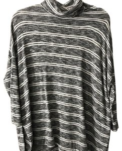 Anthropologie Stripes Poncho Turtleneck Anthro Sweater