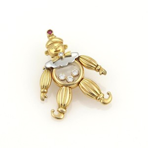 Chopard Happy Diamonds Ruby 18k Two Tone Gold Clown Pendant