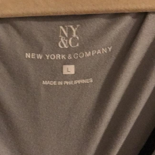 New York & Company Top blue and black