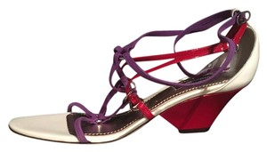 Dolce&Gabbana Purple, red and white Sandals