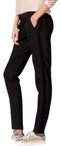 Maje Paris France Trousers Straight Pants Black