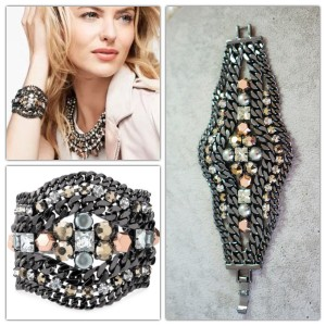 Stella & Dot Kahlo Bracelet Crystal Statement