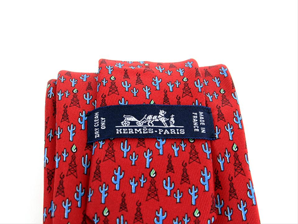 9822b5064113 Hermès Red Breitling 60517 Pa Oil Derrick Cactus Limited Edition Tie/Bowtie  Image 4. 12345
