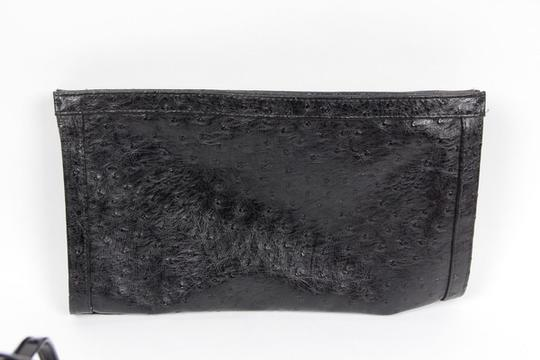Bueno Collection Faux Ostrich Evening black Clutch