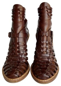 Givenchy Caged Leather Chocolate Boots