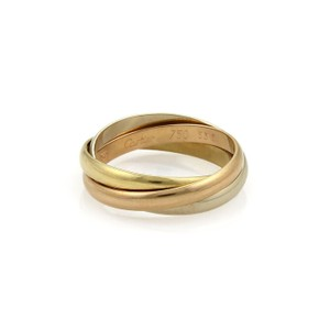 Cartier Trinity 18k Tricolor Gold 2.5mm Rolling Band Ring EU 53.5-US 6.75