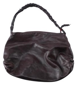 NICOLI Hobo Leather Scrunched Shoulder Bag