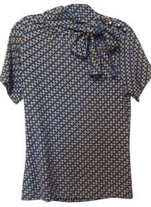 Tory Burch New Knit Long Medium Tie Top Blue, yellow, white