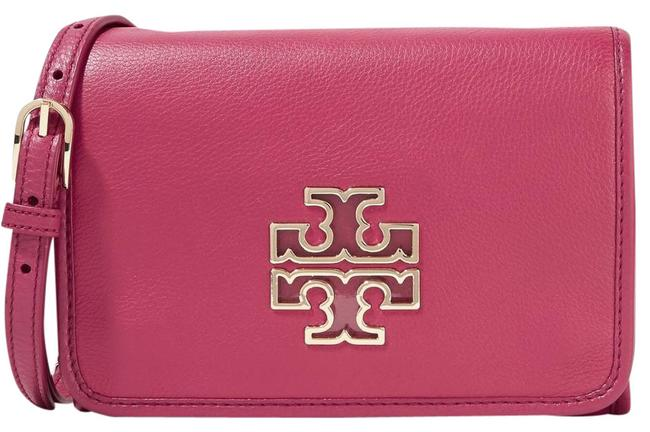 Tory Burch Shoulder Britten Textured-leather Cross Body Bag Image 1