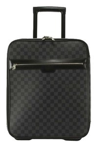 Louis Vuitton Damier Graphite 45 Luggage Carry On Roller Weekend Get Away Travel Suitcase Gray Travel Bag