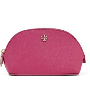 Tory Burch York textured-leather cosmetics case