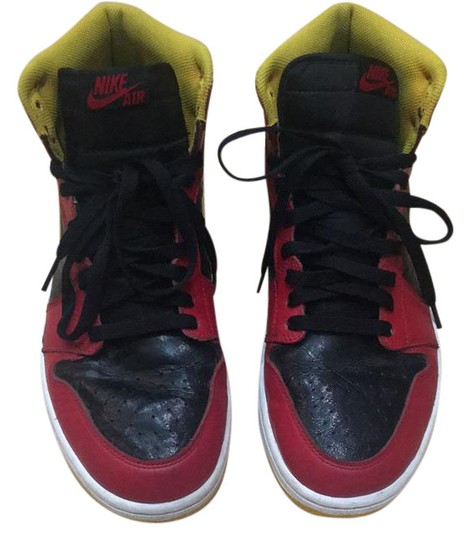 Preload https://img-static.tradesy.com/item/21339223/nike-black-red-and-yellow-air-jordan-1-highlight-real-sneakers-size-us-95-regular-m-b-0-1-540-540.jpg