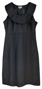 Merona Black Short Polka Dot Wide Neck Dress