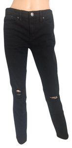 J.Crew Distressed Toothpick Ankle Skinny Skinny Jeans-Dark Rinse