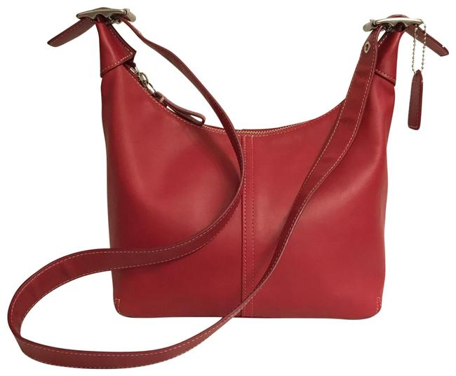 Item - Legacy Convertible 9566 Red Silver Leather Cross Body Bag