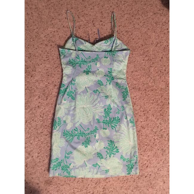 Tibi short dress periwinkle, green, mint and white on Tradesy