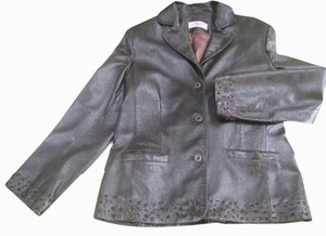 Lopez Taibo 1897 Metallic, Opalescent Leather Jacket
