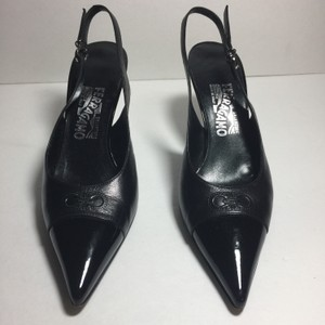 Salvatore Ferragamo Calfskin Leather Black Pumps