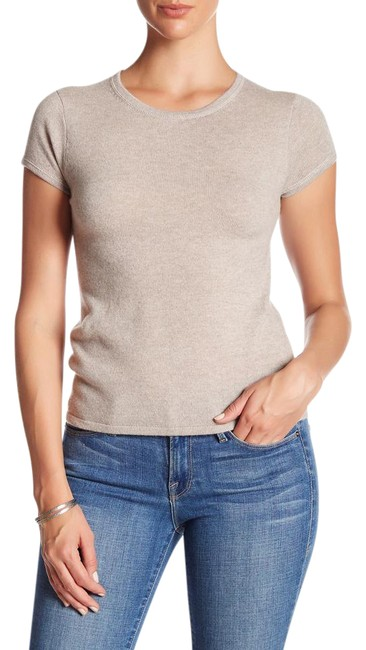 Preload https://img-static.tradesy.com/item/21339516/premise-grain-heather-cream-sleeve-cashmere-sweater-tee-shirt-size-16-xl-plus-0x-0-1-650-650.jpg
