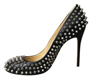 Christian Louboutin Studded Leather Black silver Pumps