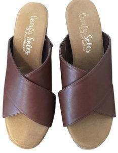 Bamboo Spring Comfortable Brown Wedges
